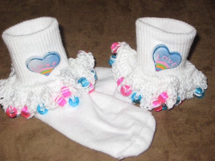 Heart Beaded Socks and  Scrunchy