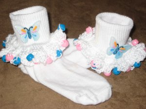 Butterflie Beaded Socks and  Scrunchy