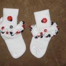 Ladybug Beaded Sock