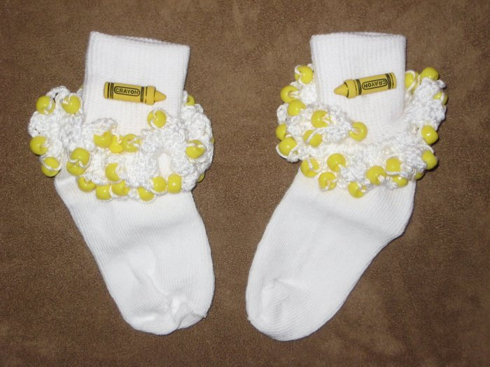 Crayola Beaded Sock (Yellow)