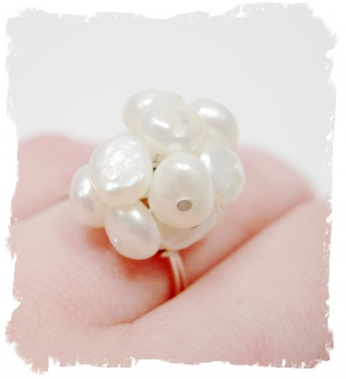 Perfectly Pearl Cocktail Ring