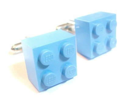Baby Blue Lego Cuffinks