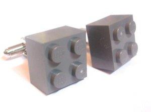 Gray Lego Cufflinks