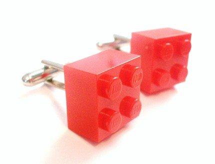 Red Lego Cufflinks