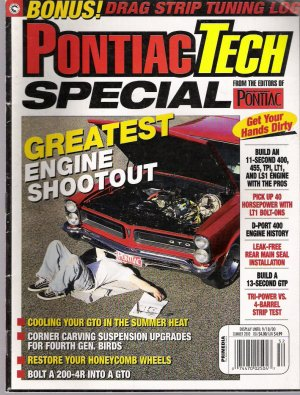 PONTIAC TECH SPECIAL... SUMMER 2000.