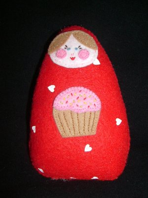 Cassi with a Cupcake - Cuddli DiDi Doll