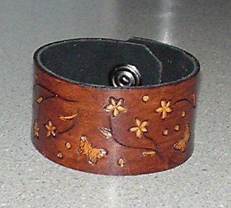 Flower Power Leather Bracelet
