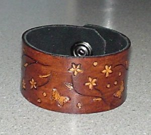 Flower Power Leather Bracelet