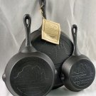Old Mountain Iron Skillet Set 3pc