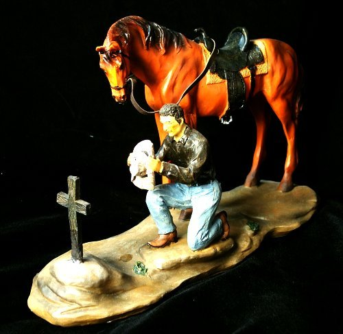 Cowboy w/ Horse In Mourning