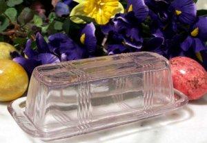 Butterdish Pink Glass