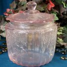 Pink Mayfair Glass Cookie Jar
