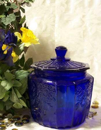 Cobalt Blue Mayfair Cookie Jar