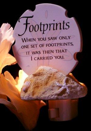 """Footprints"""" Poem Night Light"""