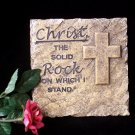 "Christ Wall Plaque - ""Solid Rock"