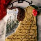 Spiritual Hanging Eagle Plaque W/ Hanger