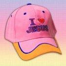 "Jesus"" Pink/Orange - adjustable cotton cap"