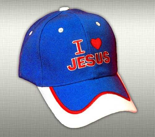 "Feather-Lite Adjustable Cap ""I Love Jesus"