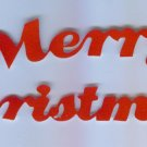Scrapbooking Die Cuts Cut Red Flocked ~ Merry Christmas