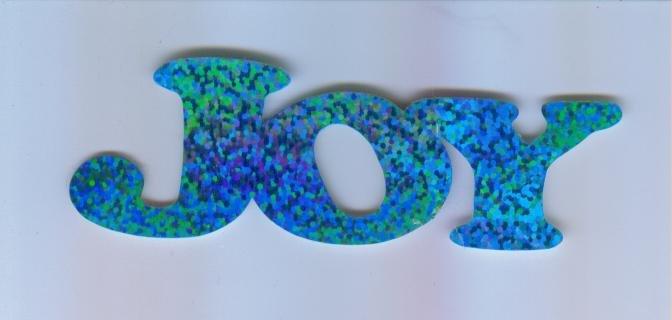 Scrapbooking Die Cuts Cut Blue Prismatic UPPERCASE JOY
