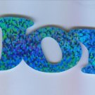 Scrapbooking Die Cuts Cut Blue Prismatic UPPERCASE JOY