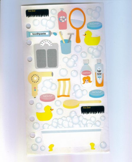Scrapbooking Sticker STICKOPOTAMUS BATHTIME STICKERS Out Of Print