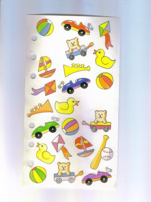 Scrapbooking Sticker Rare STICKOPOTAMUS Toy STICKERS Out of Print
