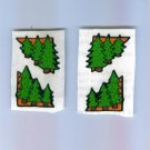 Scrapbooking Sticker - FRANCES MEYER Pine Tree Photo Corners Set of 4 STICKERS Out of Print