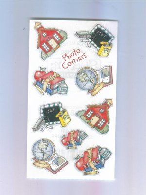 Scrapbooking Sticker - FRANCES MEYER School Theme Photo Corners STICKERS Out of Print