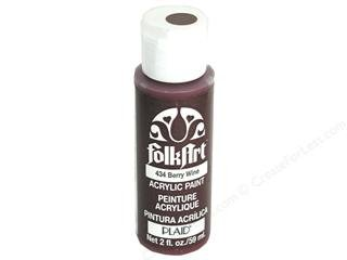 Plaid Folk Art Acrylic Paint - 434 Berry Wine 2 oz Bottle