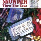 Retired Good Natured Girls SNOWMEN THRU THE YEARS Cross Stitch Designs Leisure Arts Book Leaflet