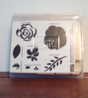 NIB Retired 1996 STAMPIN UP! Two Step Stampin Flashy Florals Location14