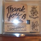 Retired 1993 STAMPIN UP! Sentiments Set Thank You Congratulations Happy Birthday Location14