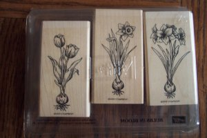 Retired 1999 STAMPIN UP! Bulbs In Bloom Stamp Set Location14