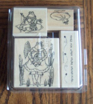 Retired 1998 STAMPIN UP! Frogs & Flies Stamp Set Location14