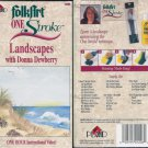 Plaid Folk Art Folkart One Stroke Landscapes with Donna Dewberry Video VHS location96