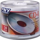 PNY TECHNOLOGIES 50 Silver CDs Write-Once Recordable for Data