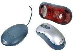 Microsoft K80-00004 Wireless Silver and Blue Optical Mouse (OEM)