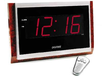 Ikasumoto Giant Face Led Alarm Clock with Remote Control