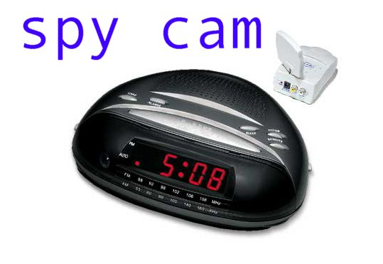 "Spion 2.4 GHz Wireless ""Hidden Color Camera"" Radio Alarm Clock"