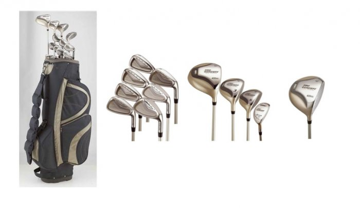 Pro Concepts 17 Piece Womens Golf Set Combo