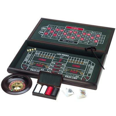 3-in-1 Wooden Casino Game (Large)
