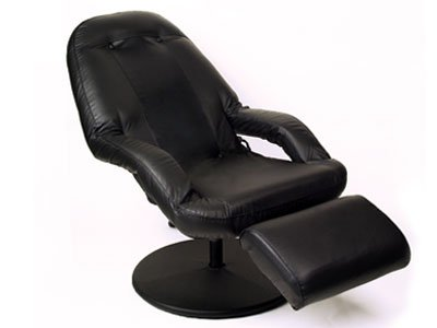 Home Pride 3 Speed Leather Massage Chair with 360-Degree Swivel Base
