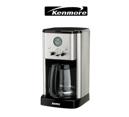 Kenmore Stainless Steel 12 cup Classic Coffee Maker With Clock