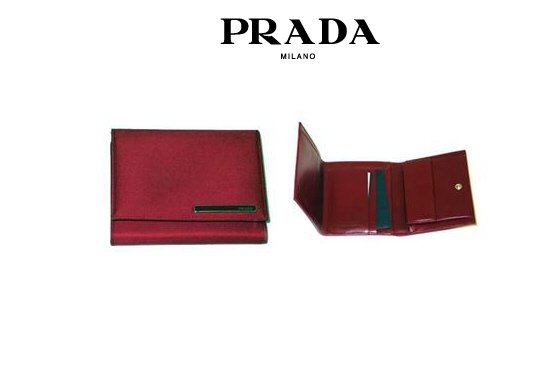 Prada Tessuto Nylon Wallet (Red)