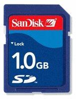SanDisk 1 GB Secure Digital Memory Card