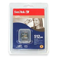 SanDisk 512MB XD Flash Memory Card