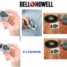 Two Bell & Howell Pocket Keychain Digital Cameras Combo