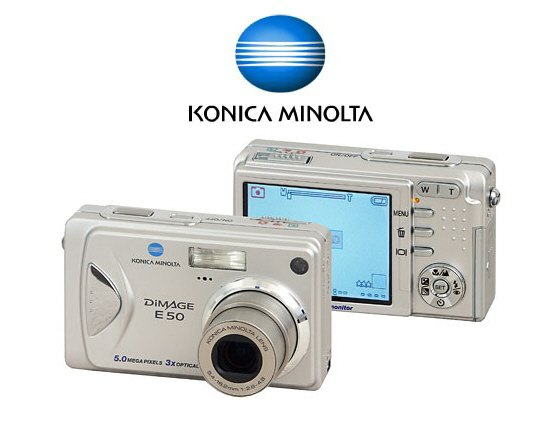 Konica-Minolta Dimage E50 - 5.2 Megapixel, 12x Total Zoom Digital Camera