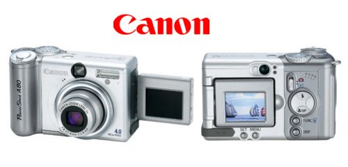 Canon PowerShot A80 - 4.0 Megapixel Digital Camera with 3x Optical Zoom & Twisting LCD Screen